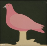 """ANTONIO MAIA (1928-2008). """"Estudo para um Monumento"""", acrílica s/ tela, 30 x 30. Assinado e datado (1981) no c.i.d. Reproduzido com foto no catálogo."""