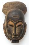 """Máscara de cerimonial em madeira da tribo """"Dinka"""" do Sudão. Alt.: 41cm. África - séc. XIX."""