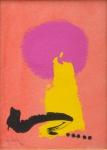 """MABE, MANABU (1924-1997). """"Composição"""", guache, 34 X 24. Assinado e datado (1994) no c.i.e. Reproduzido com foto no catálogo."""