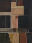 """ABELARDO ZALUAR (1924-1987). """"Sem Título"""", óleo s/ eucatex, 123 X 90. Assinado no verso. Reproduzido com foto no catálogo."""