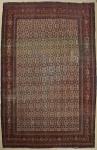 Raro tapete Senneh (circa 1890), medindo: 3,55 X 2,60 = 9,23m². (Com alguns rapados).