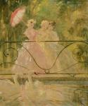 """LOUIS ICART (FRANÇA, 1888-1950). """"Le Bassin Aux Cygnes"""", óleo s/ tela, 55 x 46. Assinado no c.i.d. Carimbo no verso da Exposição realizada no Museu de Belas Artes do RJ. Reproduzido com foto no catálogo."""